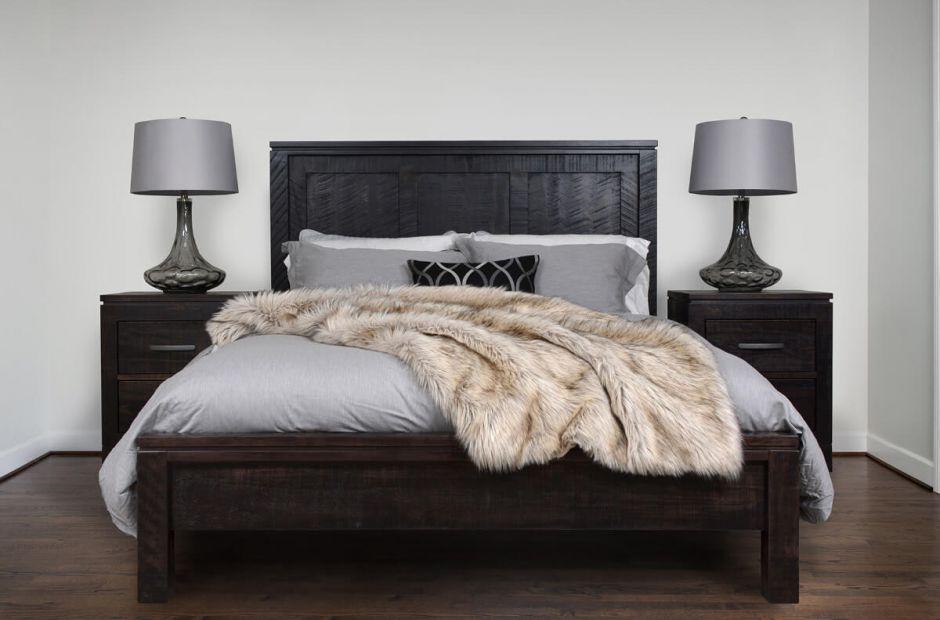sinclair modern rustic bedroom set