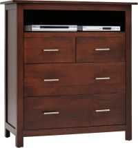Austin Solid Wood Media Chest - Countryside Amish Furniture