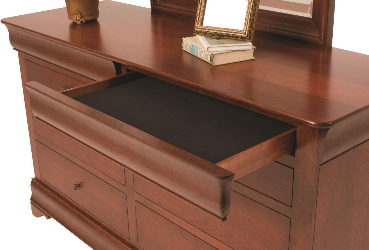 Charlemagne Cherry Bedroom Vanity Countryside Amish
