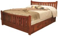 Wyndham Mission Style Storage Bed - Countryside Amish ...