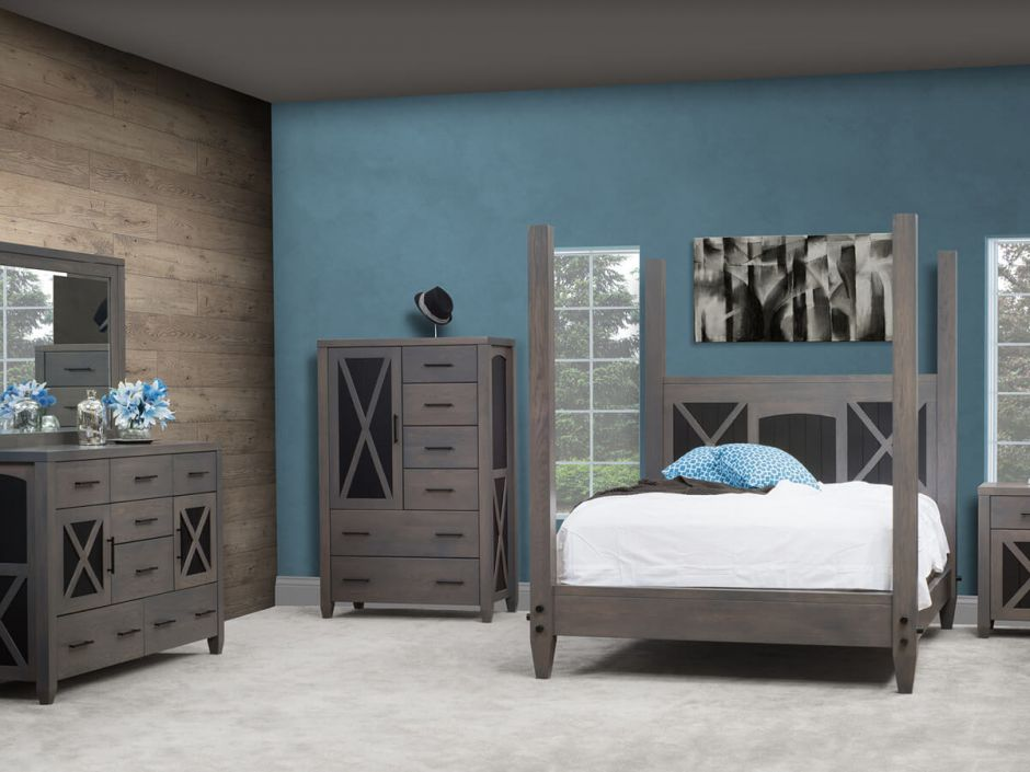 Gray American Made Bedroom Furniture  Countryside Amish