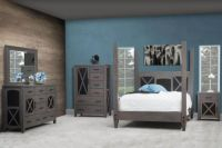 Gray American Made Bedroom Furniture - Countryside Amish ...