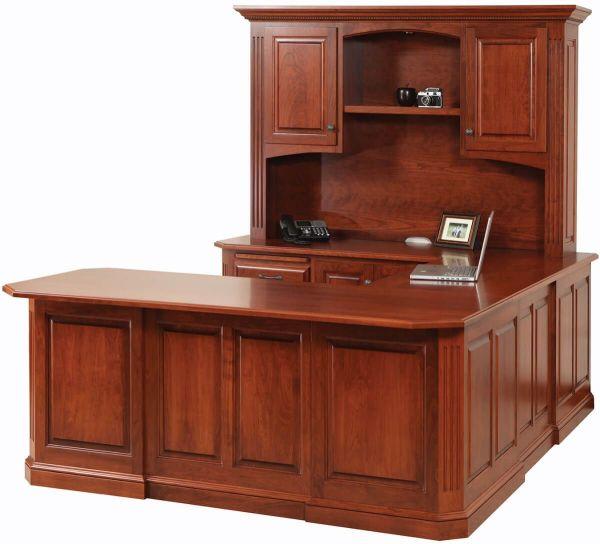 U-shaped Desk with Hutch Amish