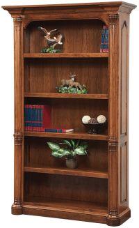 Vanderbilt Real Hardwood Bookcase - Countryside Amish ...
