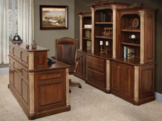 Vanderbilt Traditional UShaped Desk  Countryside Amish