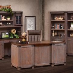 Porch Lounge Chair Desk Walmart Cave Creek Rustic Wooden Office Set - Countryside Amish Furniture