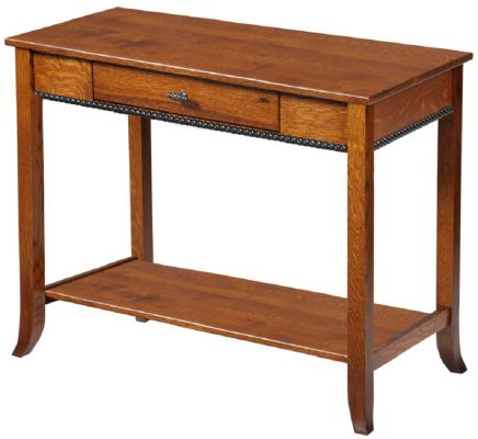amish built sofa tables quality sofas for sale richmond shaker console table countryside furniture