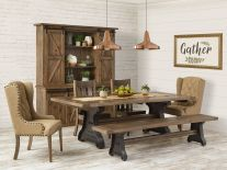 solid oak dining table and chairs chair boxes moving amish room sets wood tables countryside old saybrook farmhouse set