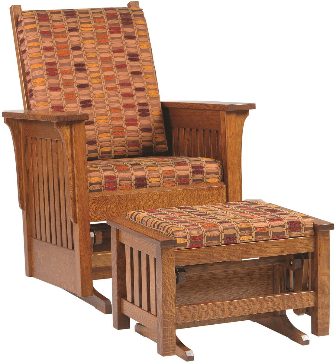 childcare glider rocking chair ottoman walnut child table and chairs sandy creek mission style countryside amish furniture