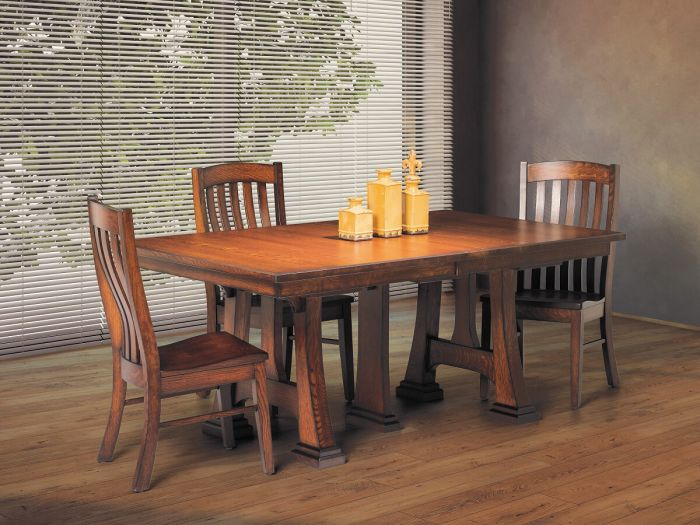 amish kitchen tables metal studs for outdoor large dining room countryside furniture tall timbers extendable table up to 14 leaves 48 x 246