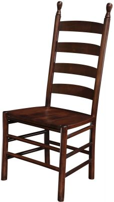 ladder back chair old fashioned step stool amish colonist chairs countryside furniture