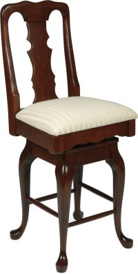 English Baroque Swivel Bar Chair - Countryside Amish Furniture