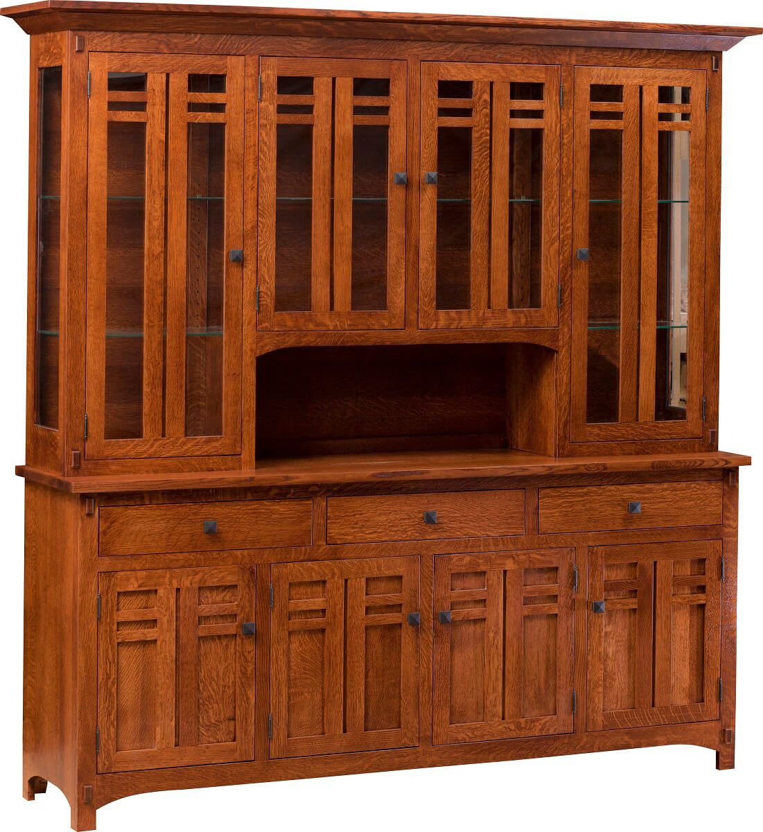 Parsons Ferry 4 Door China Hutch Countryside Amish Furniture
