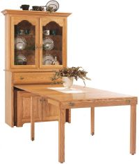 Flintt Pullout Console Table with Hutch - Countryside ...