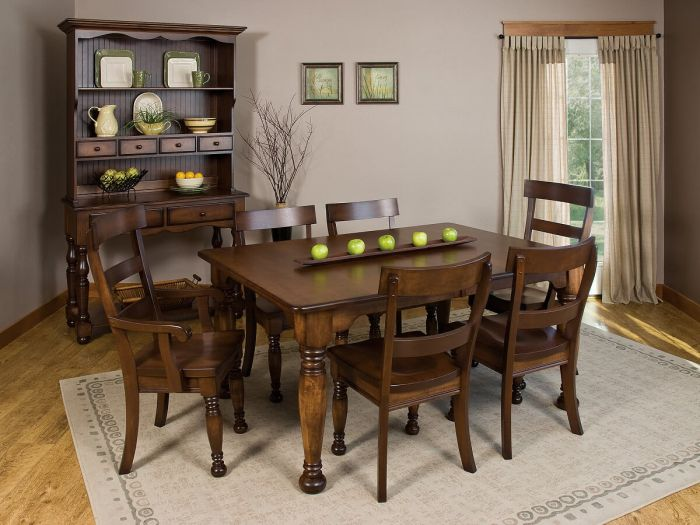 amish large dining room