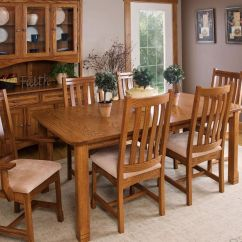 Outdoor Porch Chairs Wooden Office Without Wheels Parron Mission Kitchen And Dining Set - Countryside Amish Furniture