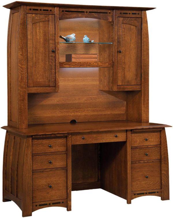 Coronado Hutch Top Computer Desk - Countryside Amish Furniture