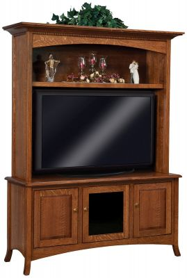 Plymouth Entertainment Center With Hutch Countryside Amish Furniture