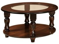 Church Hill Round Glass Topped Coffee Table - Countryside ...