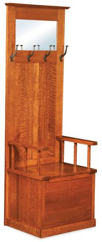 Rock Harbor Solid Wood Hall Tree - Countryside Amish Furniture