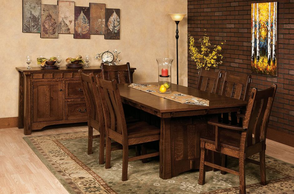 Fontana Craftsman Kitchen Set Countryside Amish Furniture