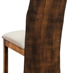Queen Anne Dining Chair Adirondack Blueprints Adele Live Edge - Countryside Amish Furniture