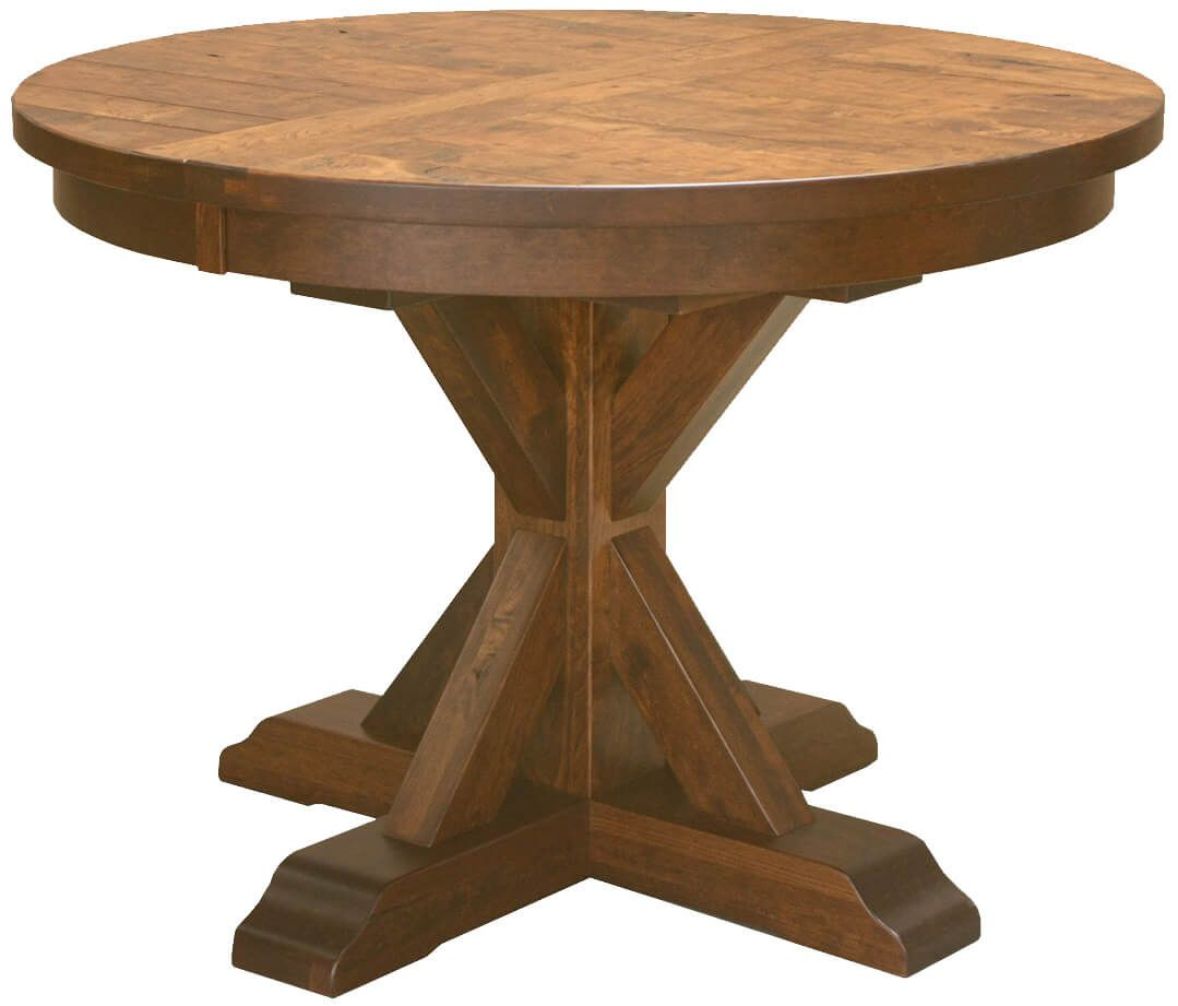 Hotchkiss Rustic Round Kitchen Table Countryside Amish