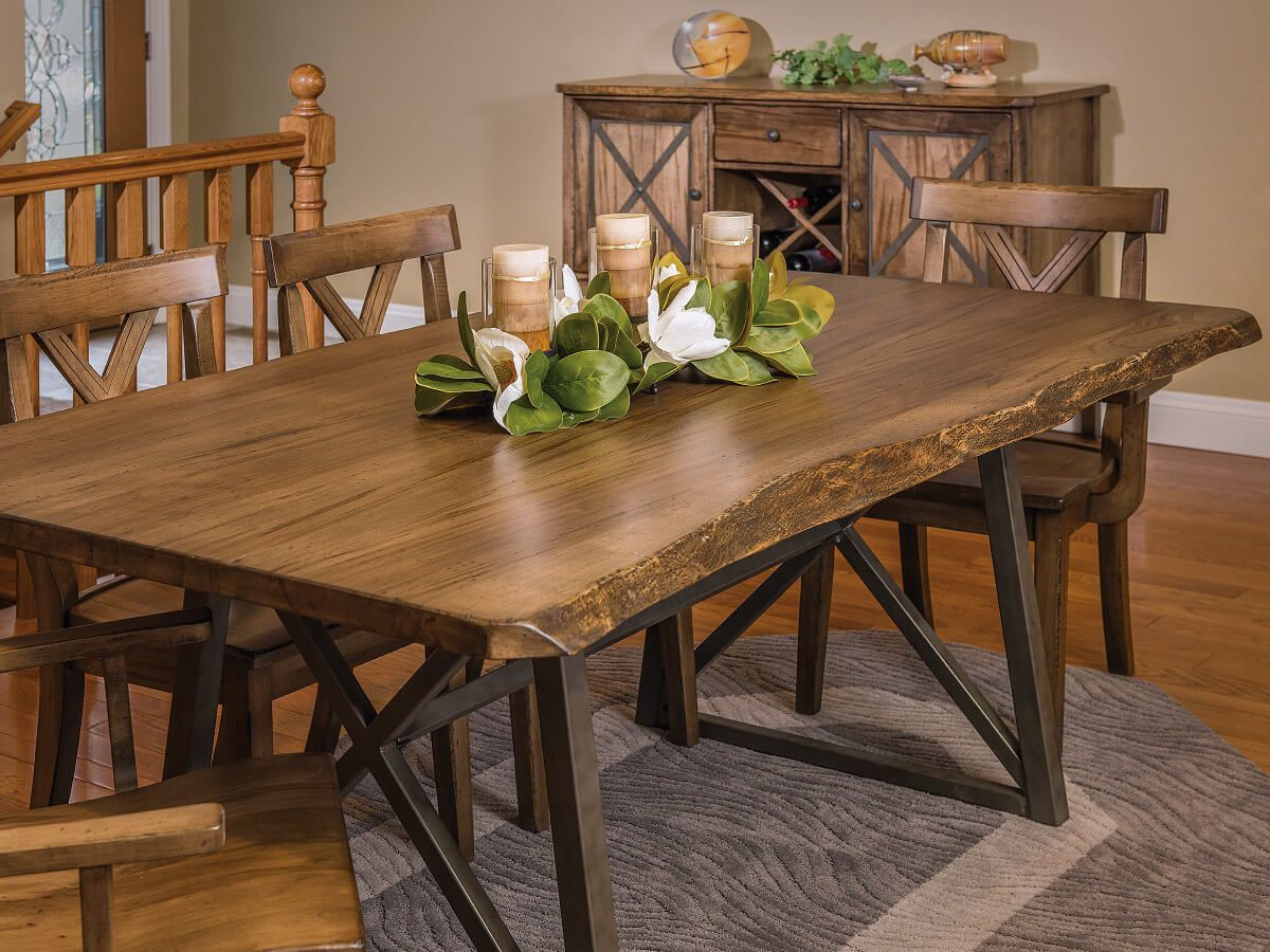 Gaffney Modern Live Edge Dining Table Countryside Amish