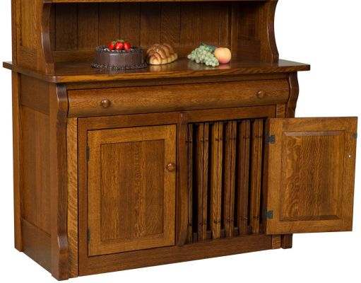 Flanders Pullout Table with Hutch  Countryside Amish