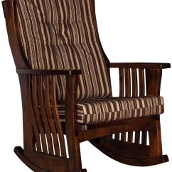 Amish Made Rocking Chair Cushions Parsons Chairs Target Newville Slatted Hardwood Rocker Countryside Furniture