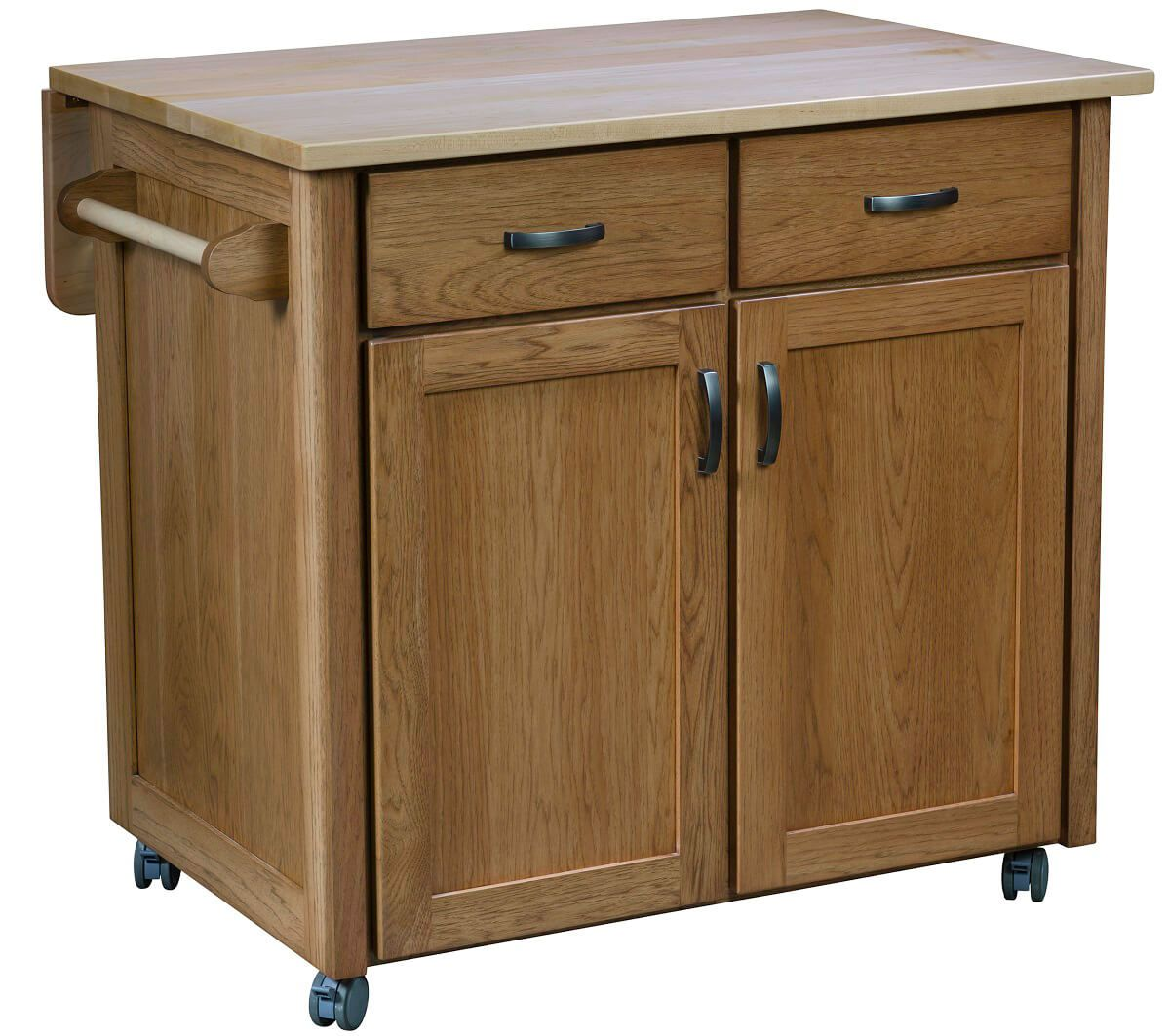 Caldwell Mobile Kitchen Island  Countryside Amish Furniture