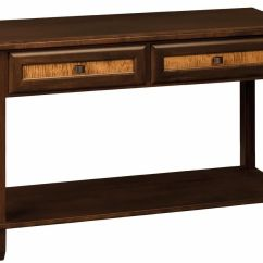 Amish Built Sofa Tables White Linen Chesterfield Palmer Table Countryside Furniture