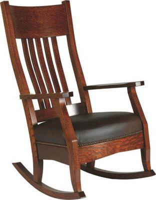 handmade rocking chairs walmart patio chair scottsdale rocker countryside amish furniture in quartersawn white oak