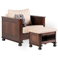 Amber Upholstered Living Room Chair - Countryside Amish ...