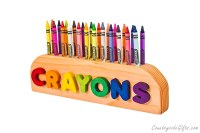 Wooden 24ct Crayon Holder : Countryside Gifts, LLC