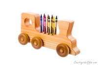 Wooden Train Crayon Holder : Countryside Gifts, LLC