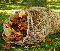 Джутовый мешок для приготовления листового перегноя