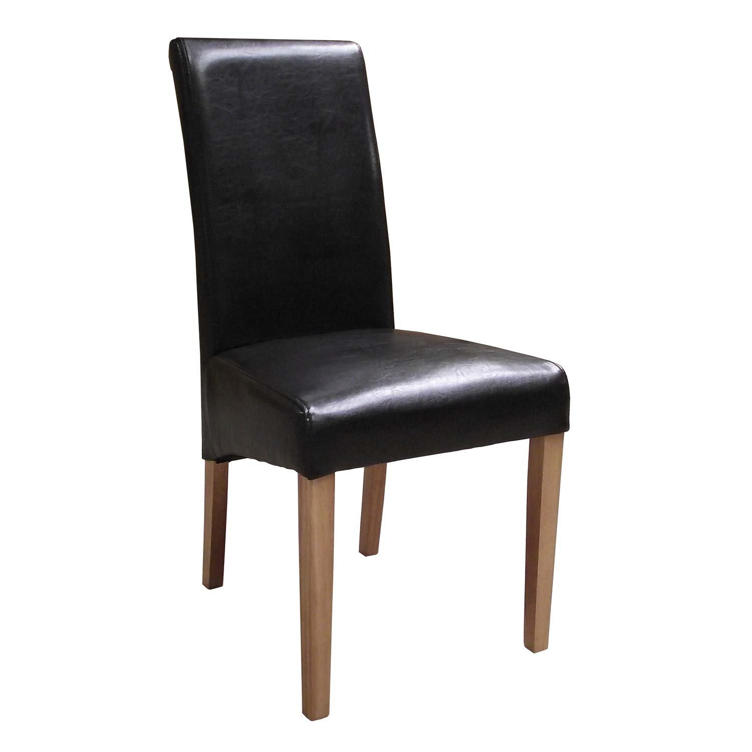 faux leather dining chairs best back support for chair brown countryside pine and oak