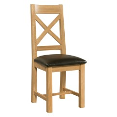 Cross Back Dining Chairs White Wooden Eddie Bauer High Chair Countryside Pine And Oak
