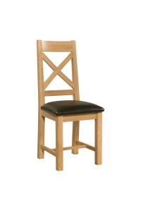 Cross Back Dining Chair | Countryside Pine and Oak