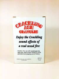 Vented Gas Logs Crackling Ash Granules