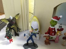 Closeup Of T1000 Grinch Cindy Lou Beetlejuice And