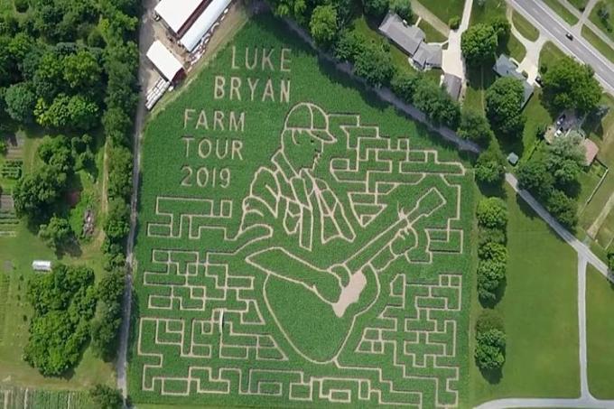 Luke Bryan, Luke, Bryan, Corn Maze, Farm Tour, Tour