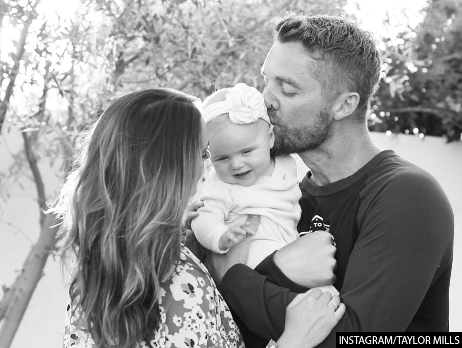 Brett Young and Taylor Mills Family