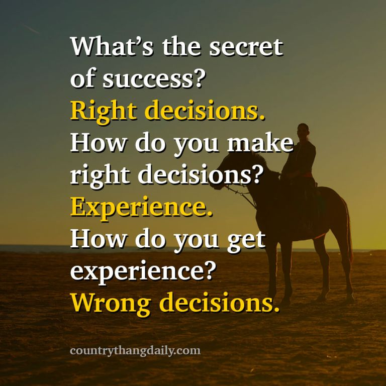 John Wayne Quotes - What's the secret of success- Right decisions