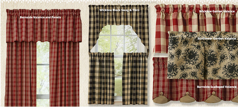 Country Style Curtains Country Kitchen Curtains Primitive
