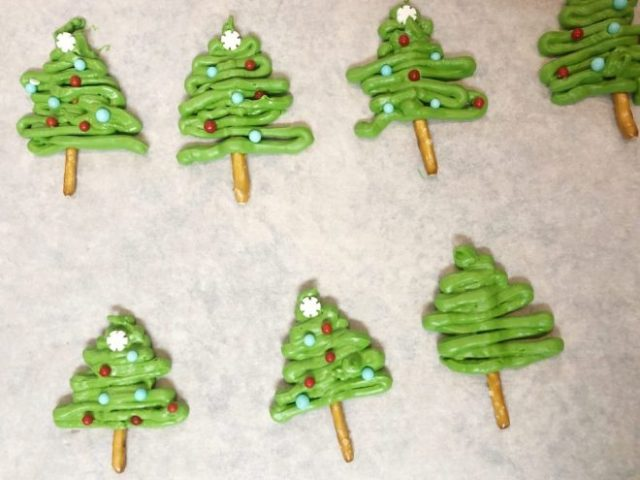 chocolate trees for cupcakes