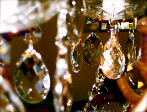 photography crystal chandelier