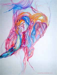 © country woman paints - heart soul