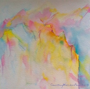 yellow cliffs watercolor